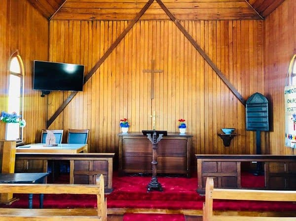 logan heritage church with altar